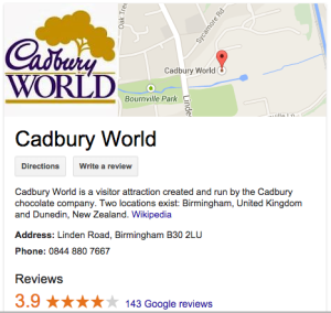 Cadbury-world-google-places-fastwebmedia
